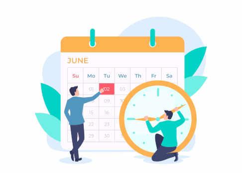 Vue du calendrier
